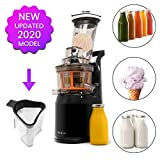 Fruta y Vegetal Cold Press Extractor de Jugo Slow Juicer, Sorbete y Helado de Frutas - Boca Ancha de 75MM, Extractor de...
