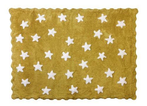 Aratextil Eden Tapis Enfant, Coton, Moutarde, 120 x 160 cm