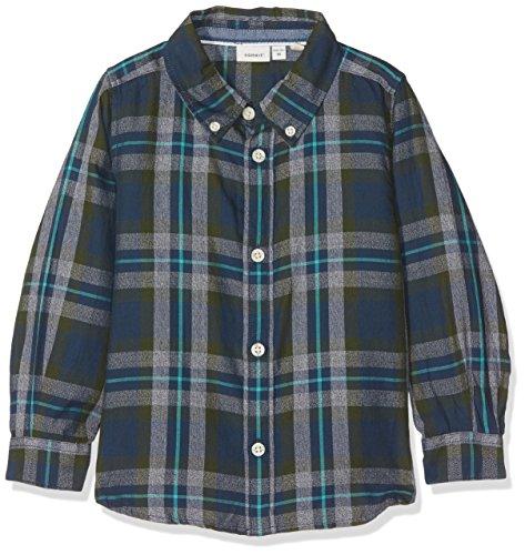 NAME IT NAME IT Baby-Jungen NITILIAS LS Shirt Mini Hemd, Mehrfarbig (Kombu Green), 92
