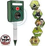 Ultrasonic Animal Repeller, Solar Ultrasonic Animal Scarer Support Cable Charging,Waterproof Wild Animal Expeller,Very Effective for Birds,Dogs,Cats,Raccoons,Squirrels,Skunks,Deer etc