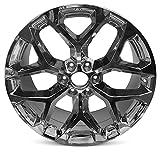 New Wheel For Cadillac Escalade (15-18) GMC Sierra 1500 (15-18) Yukon (15-18) Chevy Suburban (15-18) Tahoe (15-18) Silverado (15-18) 22 Inch New Chrome Wheel Rim 22'x9' 6x139.7mm