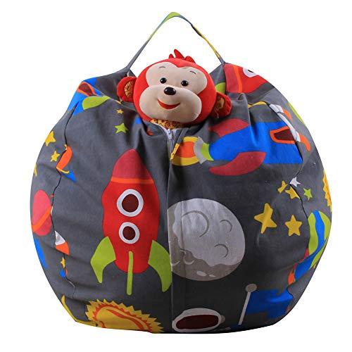 TOYLT Bolsa de almacenaje Recoge Juguetes - Organizador Ideal para Almacenamiento,Saco Guarda Juguetes para la habitación de niños pequeños(Multiusos y portátil),14inch