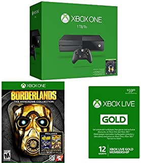 Xbox One Halo: The Master Chief Collection 1TB Console with Borderlands Game and 12 Month Xbox Live Card