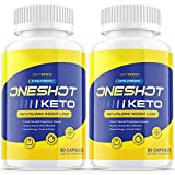 (2 Pack) One Shot Keto Pills Oneshot Keto Shark Tank Fat Advanced Weight 1 Shot Formula Supplement As Seen on TV, Exogenous Ketones for Rapid Ketosis (120 Capsules)