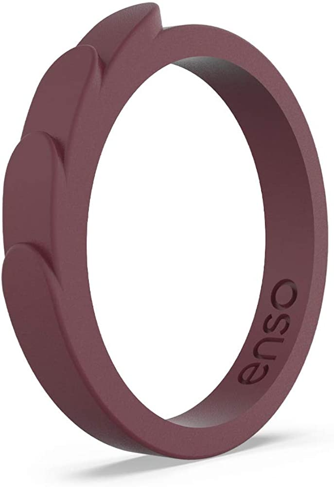 2.5mm Wide Hypoallergenic Unisex Stackable Wedding Band Enso Rings Feather Stackable Silicone Wedding Ring Comfortable Minimalist Band .8mm Thick