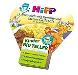 HiPP Eiernudeln mit Gemüse und zartem Gulasch Bio, 6er Pack (6 x 250 g)