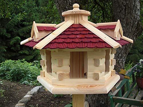Vogelhaus Vogelhäuser (V32) Vogelfutterhaus-Gaube Rot Groß- Vogelhäuschen-aus Holz-DHL-Schreinerarbeit-