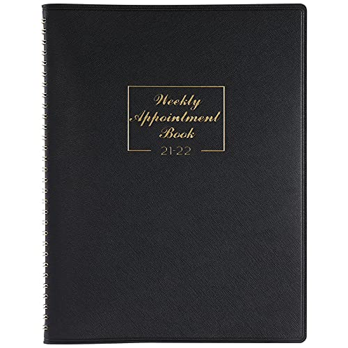 "2021-2022 Weekly Appointment Book & Planner - 2021-2022 Daily Hourly Planner 8.4"" x 10.6"", July. 2021 - June. 2022, 15-Minute Interval, Flexible Soft Cover, Twin-Wire Binding, Perfect for Your Life"