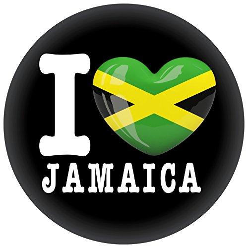 FanShirts4u Button/Badge/Pin - I Love JAMAIKA Fahne Flagge JAMAICA (I Love Jamaica)