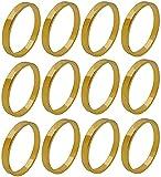 Servilleteros de Mesa Individuales Hebillas de servilleta 12 piezas anillos de...