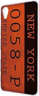 ハードケース すまほケース Xperia Z4 SO-03G・SOV31・402SO 対応 ナンバープレート・ニューヨーク NewYork ビンテージ USA アメリカン SONY ソニー エクスペリア ゼットフォー docomo au Sof...