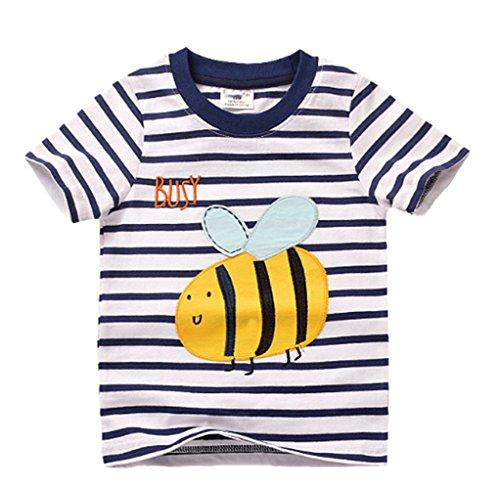 Mingming Cute Honeybee Baby Boys Short Sleeves Tee 1-6T
