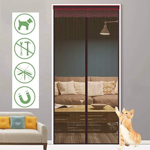 MXA Vliegengaas-deur, versterkt, anti-muggengordijn, ademend, automatisch, eenvoudig te installeren