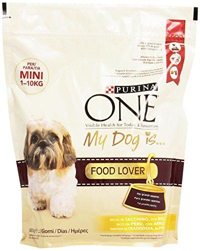 Purina One Mini Crocchette per il Cane, Controllo del Peso, Ricco in Tacchino, con Riso, per Cani fino a 10 kg, 800 g