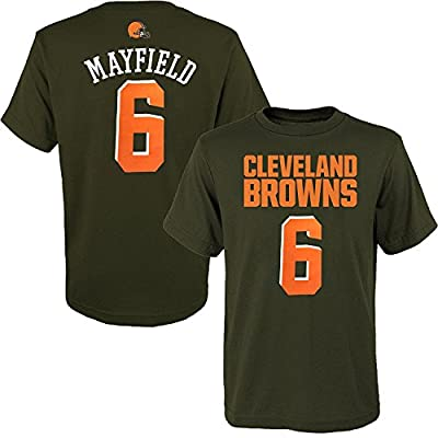 OuterStuff Baker Mayfield Cleveland Browns #6 Brown Youth Name & Number T-Shirt X-Large 18/20