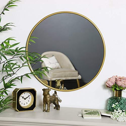 Melody Maison - Espejo redondo para pared (50 x 50 cm), color dorado