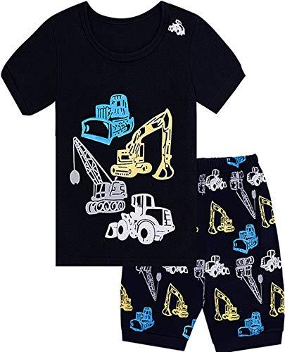 Qtake Fashion Boys Pajamas Children Clothes Set 100% Cotton Little Kids Pjs Sleepwear (2-3 Years, 1-Christmas)