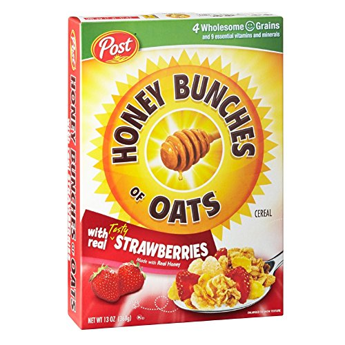 12 Pack of Post Honey Bunches of Oats Strawberry Cereal Now $20.30