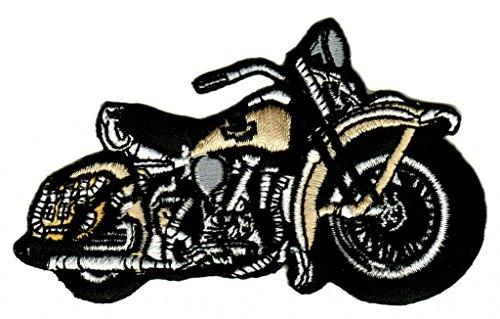 Motorrad Beige Aufnäher Bügelbild Patch Applikation
