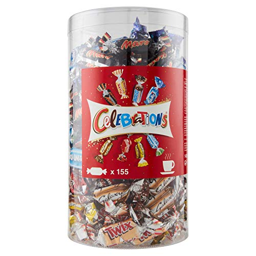 Celebrations Blisterbox | Mini-Schokoriegel Mix | 155 Pralinen in einer Box (1 x 1,435 kg)