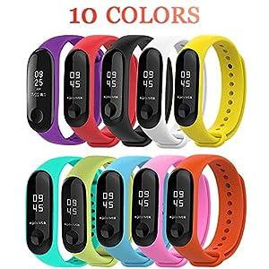 BRone Pulsera para Xiaomi Mi Band 3 / Mi Band 4, Coloridos Impermeable Reemplazo Correas Reloj Silicona Correa para… 13