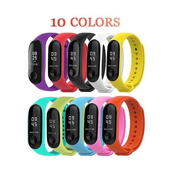 BRone Pulsera para Xiaomi Mi Band 3 / Mi Band 4, Coloridos Impermeable Reemplazo Correas Reloj Silicona Correa para… 1