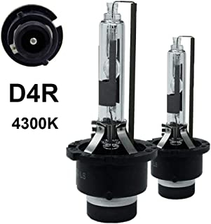 D4R - 4300K - 35W Xenon HID Headlight Replacement Bulbs,  Dinghang High And Low Beam Hid Headlights (2pcs) (D4R,  4300K)