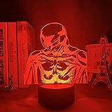 Lámpara de ilusión LED 3D Luz de noche Usb Anime Berserk Decoración de dormitorio Comic Berserk Boys-Remote Control