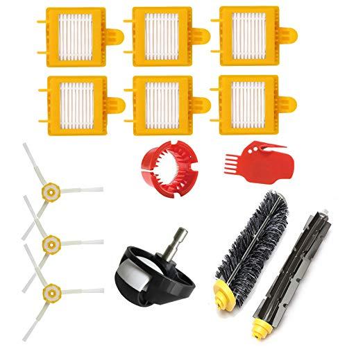Hibasing Reemplazo Accesorios Kit para iRobot Roomba 700 Serie 760/770/780-1 Cepillo de Pegamento + 1 Cepillo de cerdas + 6 Filtro + 3 Cepillo Lateral + 2 Herramienta de Limpieza + 1 Rueda Universal