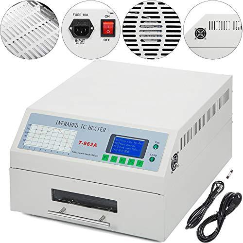 Mophorn Reflow-Lötmaschine Reflow-Lötmaschine T962A Reflow-Ofen1500W 300 x 320mm Infrarot-Heizungs-Schweißautomat (T962A)