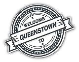 Queenstown Welcome Travel Label Vinyl Sticker Aufkleber Graphic Art Decal