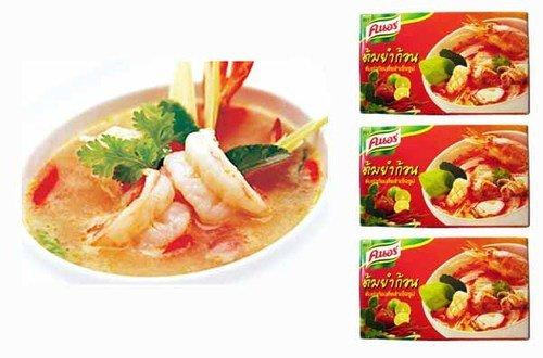 Thai Knorr Tom Yum Seasoning Cubes 24g. (Pack of 3)
