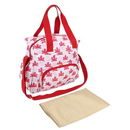 Sac à Langer de Grande Capacité Multifonctionnel Imperméable à L'eau de Voyage à La Mode Maman Sacs Organisateur à Main Soins pour Bébé Des Cadeaux pour Maman(rouge)