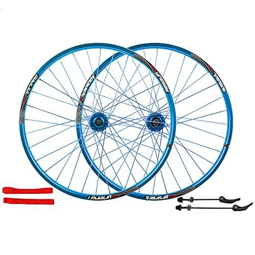 26 Pulgadas Ruedas Bicicleta MTB,Juego De Ruedas De Freno De Disco/Delantero 100 Mm Trasero 135 Mm/Soporte 7-8-9-10 Velocidad/Soporte NeumáTicos Entre 26 * 1.35-2.35