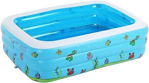 HErougeIGH Piscine Gonflable Enfants Rectangulaire Bébé Gonflable épais Grand Piscine à Balles Marine Trois Anneaux De 3 Mètres Inflatable Pool
