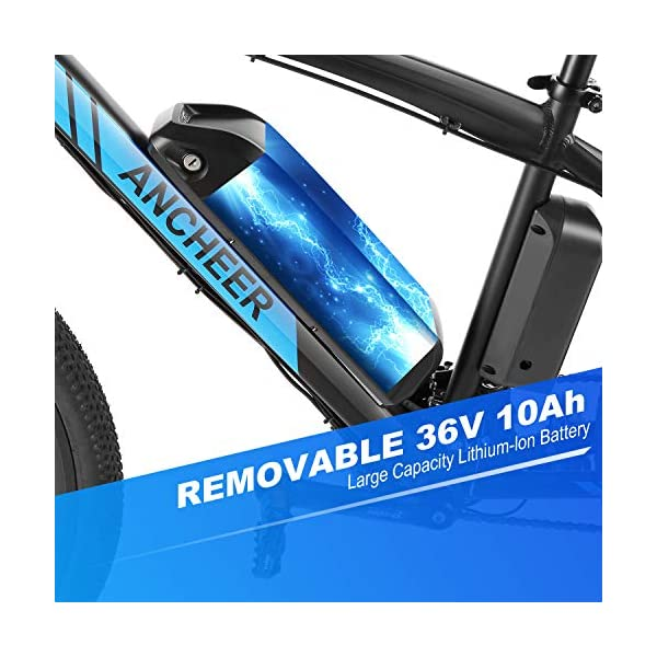 "51UUblKMJEL. SS600  - ANCHEER Elektrofahrrad Ebike Mountainbike, 26""/27.5"" Elektrisches Fahrrad mit 36V 8Ah/10Ah/12.5Ah Lithium-Batterie und Shimano 21-Gang"