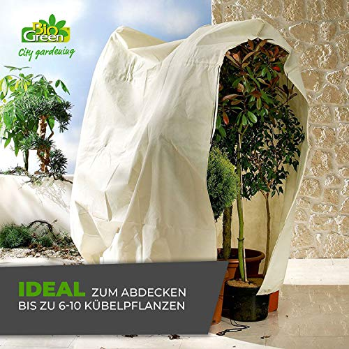 Bio Green Winterschutz Kübelpflanzensack, beige, super Stark , XXL 240 x 200 cm - 4