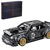 Bulokeliner Modelo de bloques de construcción para Ford Mustang Hoonicorn, 828 piezas de construcción superauto retirada coche de carreras, compatible con Lego Technic
