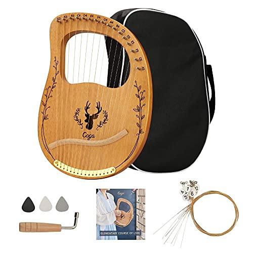 TTLIFE Lyre Harp 16 Cuerdas de Metal, Púas de Cuerda para...