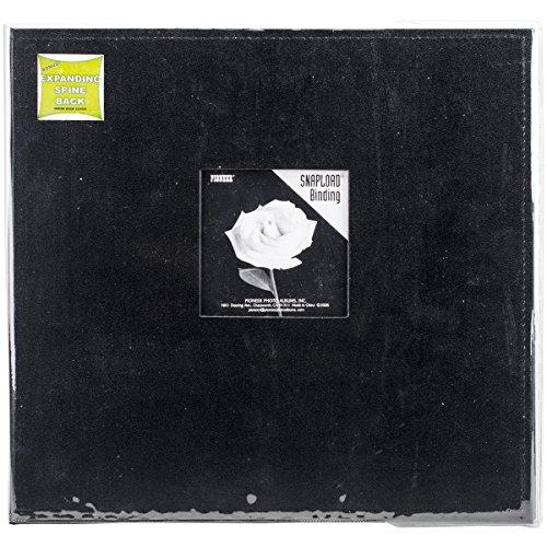 Pioneer 30,5 cm par 30,5 cm Snapload Cousu en Similicuir Cadre Coque de mémoire Livre, Noir