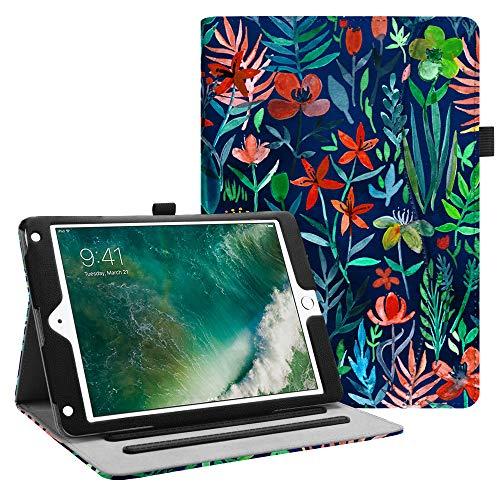FINTIE Coque pour iPad 9.7 2018/2017 / iPad Air 2 / iPad Air 9.7 Pouces- Etui de Protection Multi Angles Housse Folio Case Cover avec Poche et Fonction Sommeil/Réveil Automatique, Jungle Nuit