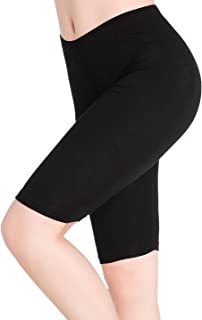 CnlanRow Womens Under Skirt Pants Soft Stretch Knee Length Leggings Fitness Sport Shorts