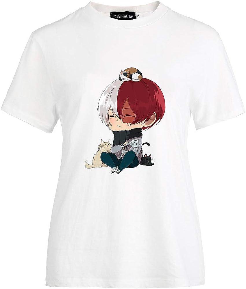 Peoria My Regular Sales store Hero Academia T-Shirt Crewne Short-Sleeve Color White