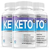 (3 Pack) Ketogenix Keto Max Pills Shark Tank Advanced Weight Loss Puretonics VIP Tablets Ketogenic As Seen On for Women Men Supplements (180 Capsules)