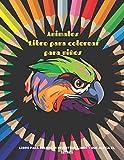 Animales - Libro para colorear para niños - Libro para colorear divertido, lindo y que alivia el...