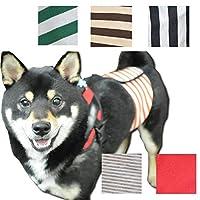 Hazrth ハーズ マナーベルト 犬マナーベルト 初回お試し 犬介護用 ハリタイプ ギャザー入り 漏れにくい マナーバンド 犬服 マナーウェアー 犬のマナーベルト (XS, ブルーストライプ)