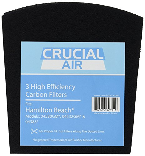 Crucial Air Replacement Carbon Filters Compatible with Hamilton Beach True Air Filter Parts - 5.5