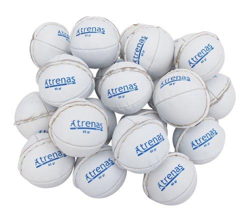 trenas Wurfball aus Leder - 200 Gramm - gelb - Für Wettkampf und Training