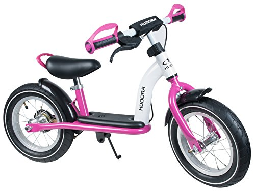 HUDORA Laufrad Cruiser Girl Alu, 12 Zoll - Luftbereifung - weiß/pink - 10089