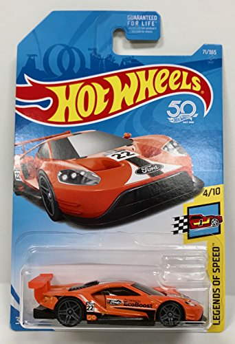 Hot Wheels 2018 50th Anniversary Legends of Speed 2016 Ford GT Race 71/365, Orange